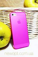 Силиконовый чехол для IPhone 5, 5S розовый, фото 1