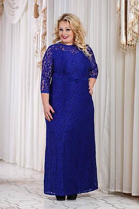 Д792 Вечернее платье размеры 50-52 Электрик, фото 2