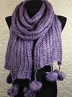 Зимние шарфы с бубонами 561(1)