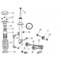 Передний левый амортизатор CHRYSLER 300C   SACHS  312258