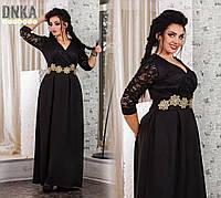 Платье   женское нарядное гипюровое длинное большие размеры в расцветках