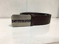 Коричневый ремень Calvin Klein