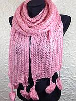 Зимние шарфы с бубонами 561(8)