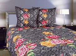 Комплект постельного белья Роза вензель двухспальный:(175х215 см)