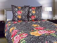 Комплект постельного белья Роза вензель евро:(200х215 см)