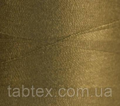 Швейная нитка №50(20/2)№D437 хаки+коричневая (4000ярд.) китай