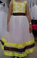 """Нарядное детское платье """"16-4"""" (жёлтое)"""