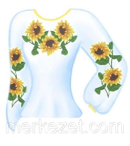 """Схема для женской вышиванки """"Шарма"""". Основа на ткани для вышивки"""