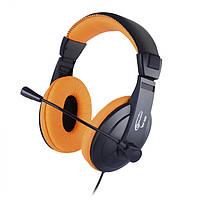 Наушники Gemix W-300 Black-Orange, микрофон, игровая гарнитура
