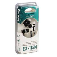 Наушники GreenWave EX-115M Black, микрофон