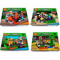 Конструктор лего майнкрафт Lele Minecraft 79255, 4 вида
