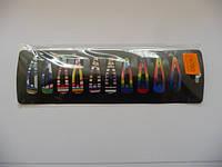 Зажим маленький метал. цветной, цена за пл., в пл. 10шт., 20*7см(Н240012)