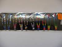 Зажим метал. цветной3, цена за пл., в пл. 10шт., 15*8см(Н240011)