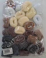 Резинка коричневая, бежевая, цена за уп., в уп. 30шт, в пак. 25*17см(4152031)