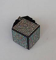 Резинки велюр. квадрат с камнями(Н351005)