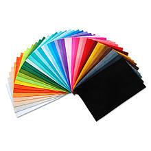 Фетр мягкий в наборе 42 цвета, 1.3 мм, 20x30 см, Royal Тайвань, Китай