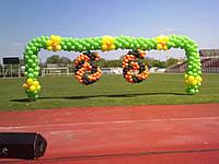 Оформление шариками 9 мая