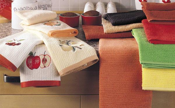 Как отстирать кухонные полотенца ?