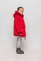 Теплая зимняя куртка пальто на девочку размер 158
