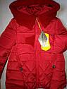Теплая зимняя куртка пальто на девочку Бетти Размеры 122, 152, 158, фото 3