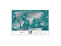 Скретч карта мира Travel Map «Marine World»  (на английском языке), фото 1