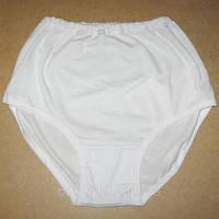 Плавки женские трикотажные (белые) 100% хлопок