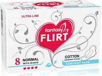 Прокладки для критических дней Flirt ultra Cotton Normal 4 капли 8 шт. (WKL06C)