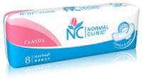 Прокладки для критических дней Normal Clinic Classic Cotton soft 3 капли 8 шт. (NC18)