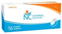 Тампоны для критических дней Normal Clinic super 4 капли 16 шт. (TGN003)