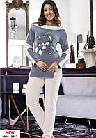 Зимняя женская махровая пижама-Турция