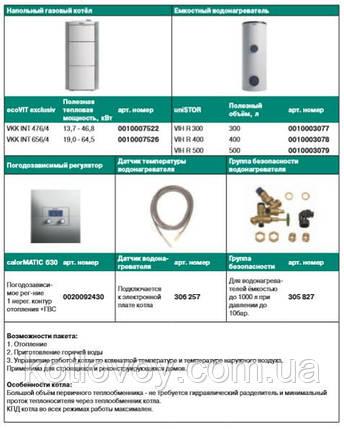 Пакетное предложение №24 ecoVIT exclusiv VKK INT + бойлер uniSTOR VIH R (300, 400, 500) + calorMATIC 630, фото 2
