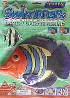 Водоплавающая рыбка батар. на планш. 35*26см(3301D)