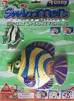 Водоплавающая рыбка батар. на планш. 35*26см(3303D)