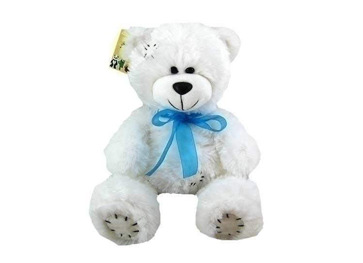 Плюшевый белый мишка Тедди, 50 см