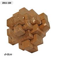Деревян. головоломка  в пленке 8см (200шт)(2011-104)