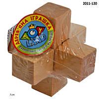 Деревян. головоломка, в пак. 7*7*7см (700шт)(2011-120)