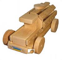 """Эко-конструктор """"Автокран"""", деревянный, в пак. 31*20см, произ-во Украина (172014)"""