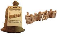 """Эко-конструктор """"Ворота замка"""", деревянный, в меш. 31*20см, произ-во Украина(171896)"""