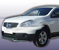 Nissan Qashqai 2007-2010 гг. Передний двойной ус ST014 (нерж) 51/42 мм