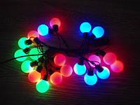 Новогодняя гирлянда Шарики крупные  20 LED 5,4 м 3,8 см
