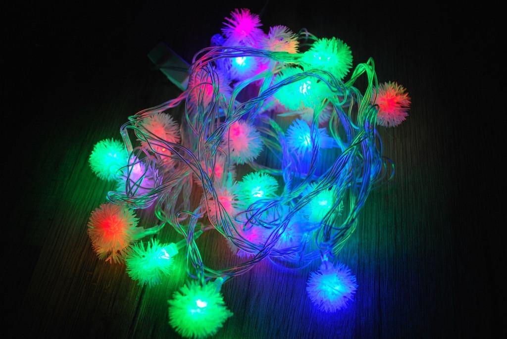 Новогодняя гирлянда Ежики 32 LED 5,0 м