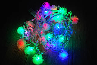 Новогодняя гирлянда Ежики 40 LED 5,8 м