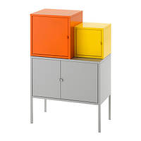 LIXHULT Комбинация д/хранения, оранжевый/желтый, серый