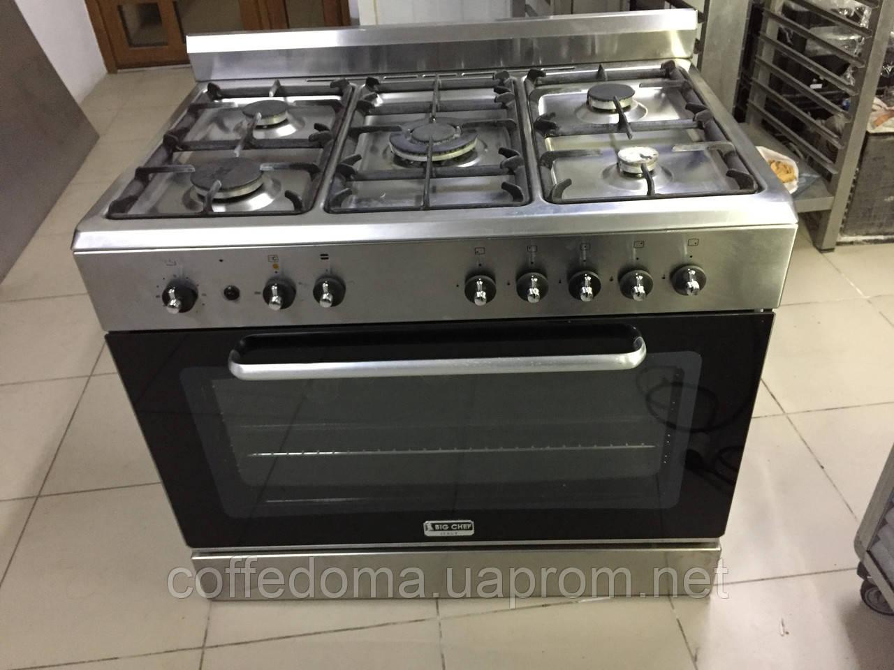 Big Chef профессиональная газовая плита на 5 конфорок