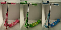 Самокат метал./алюм., 3 цвета, 3 колеса PVC, колеса 90мм, в кор. 81*35*13см (6шт)(11102)