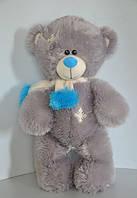 Оригинальный серый мишка Тедди, 40 см