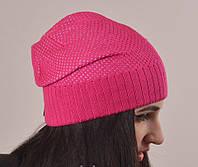 """Головные уборы. Шапки. Женская шапка """"Мальва"""" розовый."""