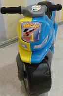 Мотоцикл 2-х колесный, желт.-голуб., в пак. 65*46см, ТМ Орион, произв-во Украина (1шт)(501ЖГ)