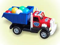 "Машина  ""Бамсик "", с шарики, в сетке 38*20см, ТМ BAMSIC, произ-во Украина (5 шт/уп)(008/1)"