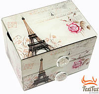 Шкатулка для украшений из стекла Париж